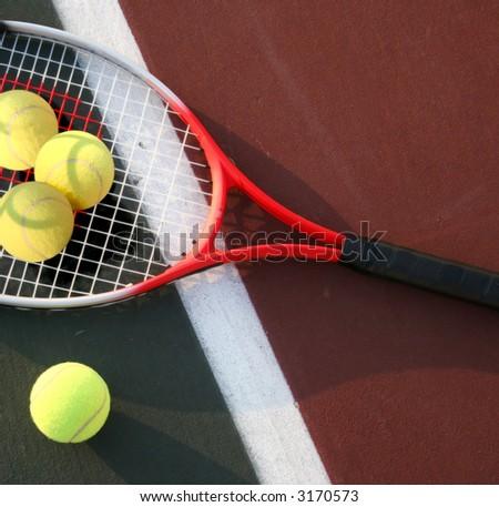 The big tennis - stock photo