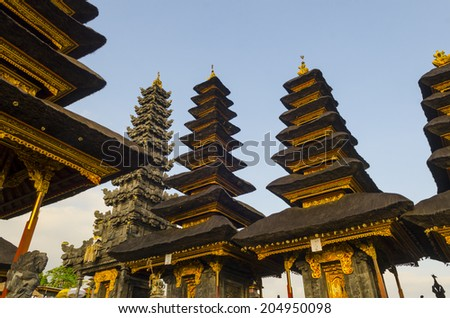 """The biggest temple complex, """"mother of all temples """". Bali,Indonesia. Besakih. - stock photo"""