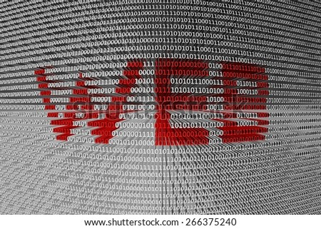 the binary code of the web - stock photo