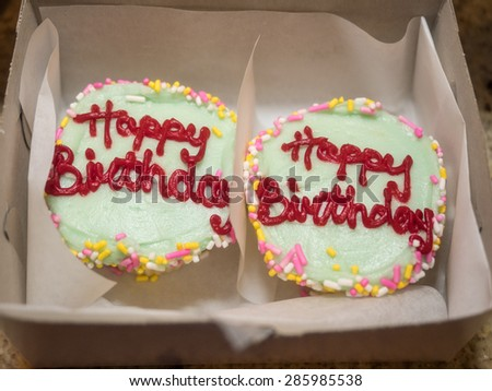 The birthday cake has been an integral part of the birthday  celebrations in Western cultures. - stock photo