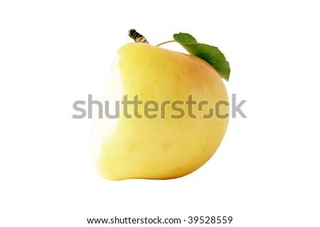 the bitten off  apple - stock photo