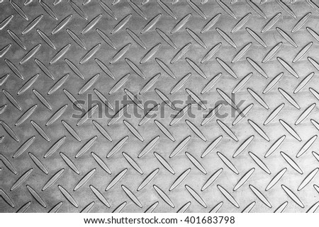 the black and white of metal texture in the low key tone background - stock photo