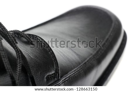 The black man's shoes.Isolated on white background