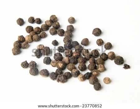 The black pepper isolated on white background - stock photo