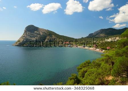 The Black Sea coast. Settlement New light. Ukraine. - stock photo