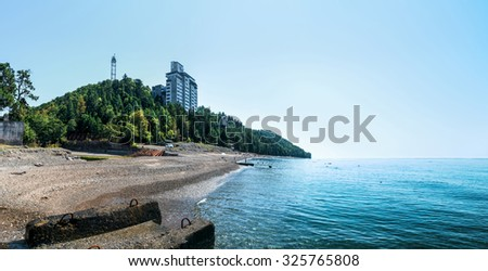 The Black Sea in Abkhazia, remarkable rest, fine landscapes