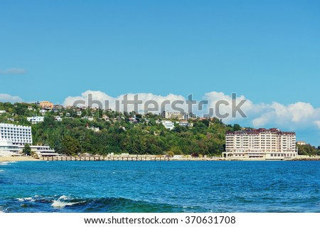 The Black Sea ?oast in Varna. Bulgaria - stock photo
