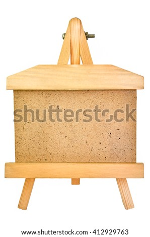 The blank wooden photo frame isolated on white, with place for your text or picture