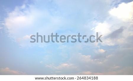 The blue cloud sky - stock photo