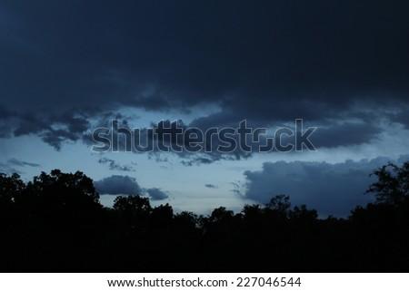 The Blue Hour Sky - stock photo