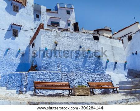 The blue medina of Chefchaouen, Morocco - stock photo