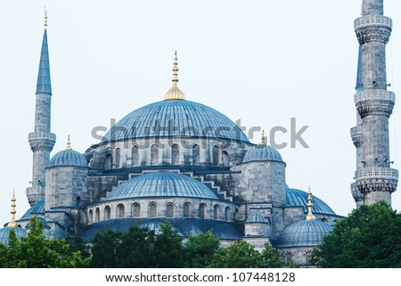 The Blue Mosque, Istanbul Turkey - stock photo