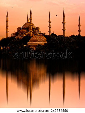The Blue Mosque, Istanbul, Turkey - stock photo