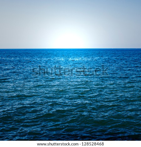 the blue ocean - stock photo