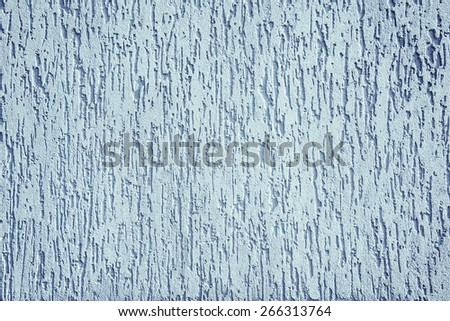 The blue plastered wall - stock photo