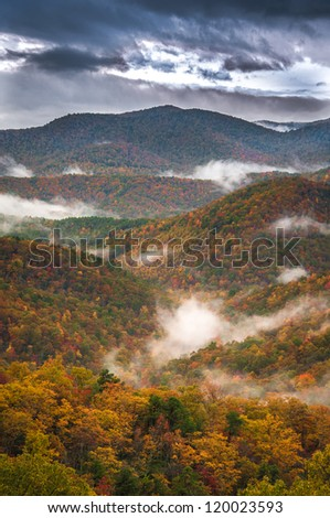 The Blue Ridge Parkway supplies a lifetime of beautiful scenery. In the Autumn months the color is ablaze with the magic of fall.