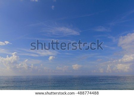The blue sea and sky background. Adriatic Sea. Montenegro