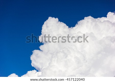 The blue sky and beautiful cloud.