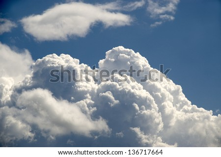 The Blue Sky and Clouds