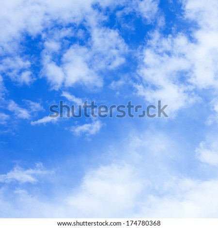 The Blue Sky and Clouds - stock photo