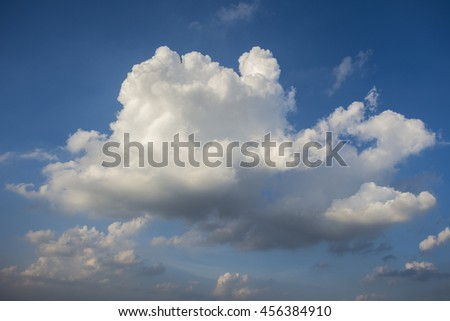 The blue sky and white clouds - stock photo