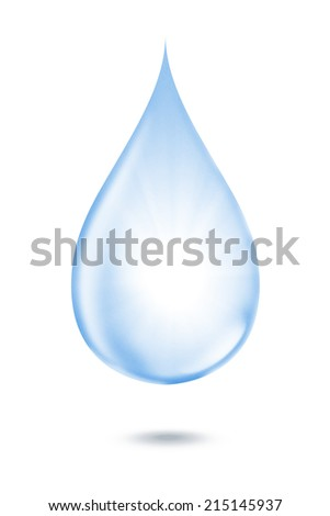 The blue water drop single object pass retouching to perfect for graphic design art work or other job