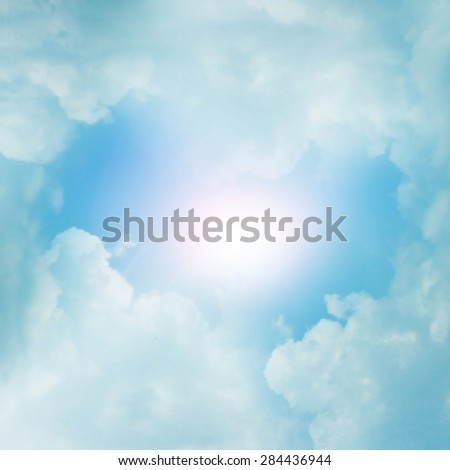 The blurred divine sky - stock photo