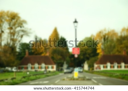 The blurry scene of car among the rural road represent the transportation concept related idea. - stock photo