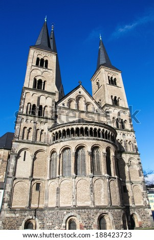 The Bonn Minster, or, in German, the Bonner Munster, is one of the oldest churches of Germany. It is located in Bonn, North Rhine Westphalia, Germany.