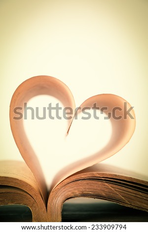 The book of love, vintage - stock photo