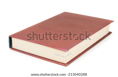 The book. On a white background.