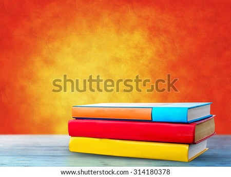 The books on the table - stock photo