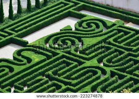 The Borges Labyrinth in Venice, Island of San Giorgio Maggiore, Giorgio Cini Foundation, Italy, Europe  - stock photo