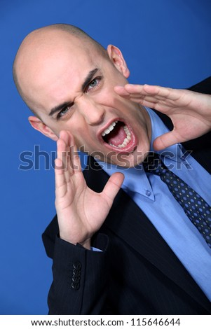 The boss is mad - stock photo