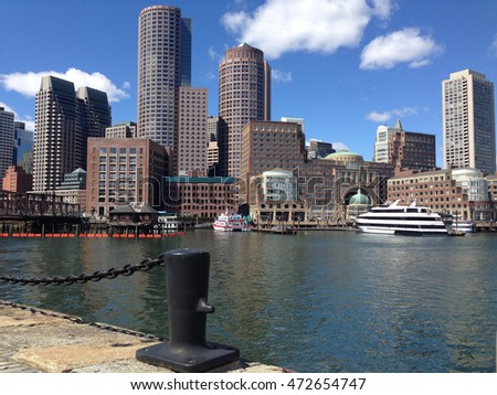 The Boston skyline in the USA