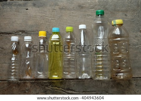 The bottles used in my home. It had many types that I will sale it. - stock photo