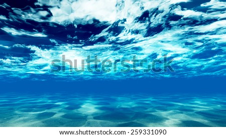 The bottom of the ocean. 3 Raster - stock photo