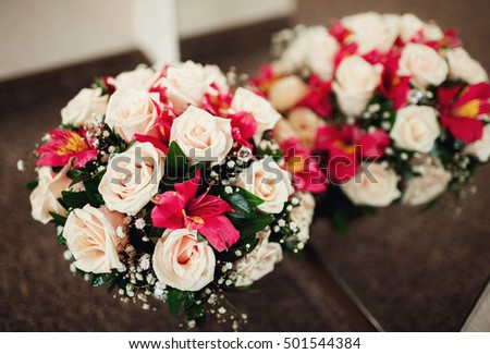 The bouquet for  bride