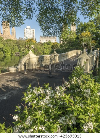 The Bow Bridge  is a cast iron bridge located in Central Park, New York City, crossing over The Lake