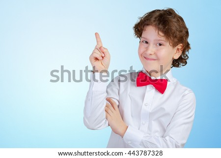 The boy comes up with ideas  - stock photo
