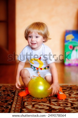 the boy with a balloon