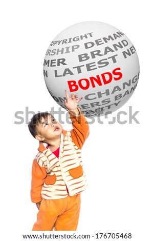 The boys pointed BONDS - stock photo