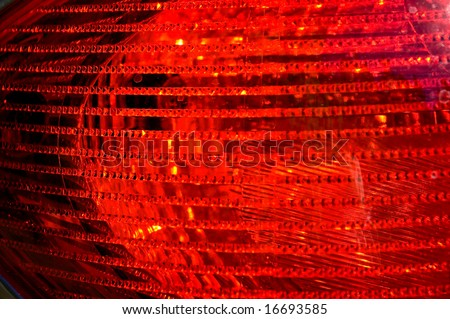 The brake light assembly of a modern automobile - stock photo