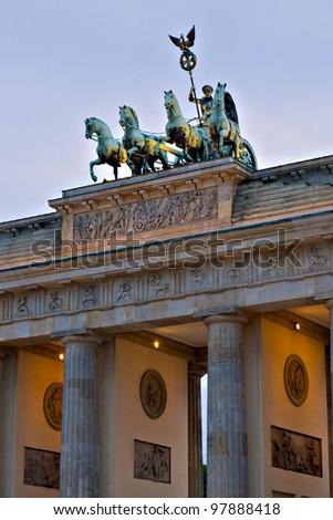 The Brandenburg Gate, Berlin, Germany - stock photo