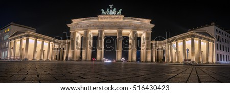 The Brandenburger Tor, one of the best-known landmarks and national symbols of Germany