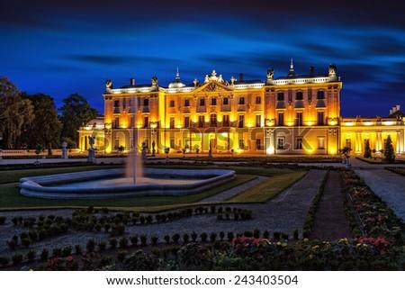 The Branicki Palace and park in Bialystok Bialystok, Poland.  - stock photo