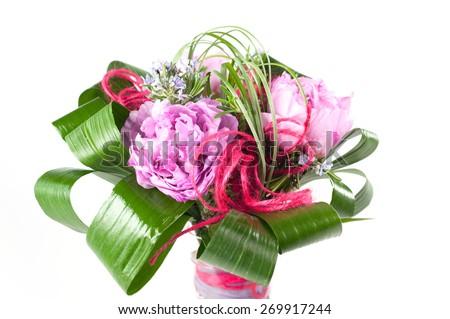 the bride's bouquet - stock photo