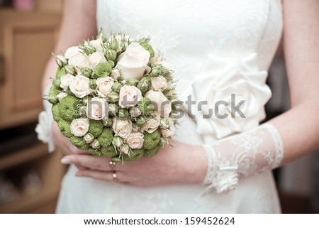 the bride's bouquet. wedding flowers. wedding