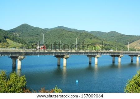 The Bridge and beautiful river - stock photo