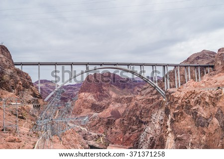 The Bridge by the Hoover Dam - stock photo